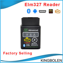 Wholesale Newly HH OBD Mini Elm327 Bluetooth OBD OBD II diagnostic interface elm Bluetooth auto diagnostic tool DHL