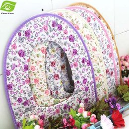 Wholesale Cute Floral Print Toilet Seats Multi Color Decorative Toilet Seats Cotton And Leather Toilet Seat Cover dandys
