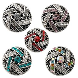 D02183 Free Shipping Fashion 18mm Snap Buttons DIY snap button noosa chunks leather bracelet Fit DIY Noosa button Bracelet Jewelry
