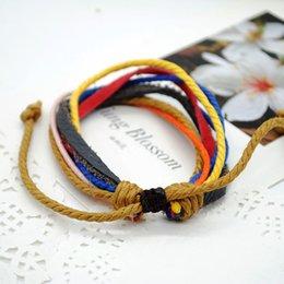 1 Pcs New Fashion Random Color Retro Vintage Weave Braided Rope Bracelets For Women Charm Hand Chain Y60*SS1024#M5