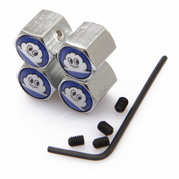 Lockable MichelinAnti-Theft Dust Cap Tire valve caps With Car Logo Badges Emblems Michelin With Retail Box SZYX-0021