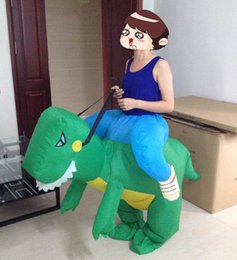 funny ride on green dinosaur inflatable suit one size fit all design adult inflatable green dinosaur costume