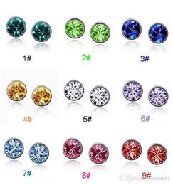 Wholesale Top grade stud earrings for women Austrian Crystal inlaid dazzling silver earrings anti allergic jewelry LDE