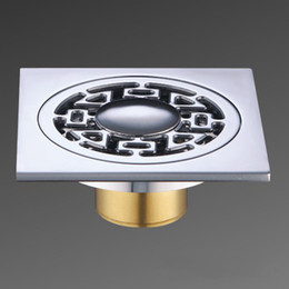 Wholesale Floor Drain Grate Waste mm Square Solid Brass Chrome Bathroom Shower Tile NEW
