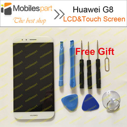 Wholesale-Huawei G8 LCD Screen +Touch Display 100% Original Replacement Screen for Huawei G8 5.5inch Smartphone Free Shipping
