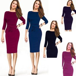 Women's Clothing Work Dresses Autumn Spring Winter Plus Size Knee-Length Bodycon Pencil Dresses Clubwear Party Dress wholesale Free shipping