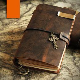 Dark brown Leather Journal Midori Traveler's Notebook journals for men Leather Notebook Rustic leather diary