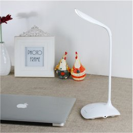 Wholesale 2016 Hot Flexible LED Light Table Desk Lamp Touch Sensor Adjustable brightness USB Charge leves adjustable brightness