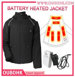 Wholesale Fall Hot Brand Man Jacket Sportswear College Mens Jackets And Coats Heated Clothing with heated pads heating system OUBOHK