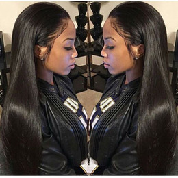 Mongolian Straight Hair Wigs Virgin Unprocessed Human Hair Lace Wigs for Black Women Lace Front Wigs Bellahair 8A Natural Color