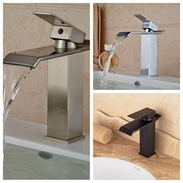 Wholesale And Retail Deck Mounted Solid Brass Bathroom Basin Faucet Vanity Sink Mixer Tap Single Handle Hole Faucet