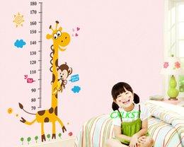 Wholesale Giraffe Monkey Height Chart Wall Sticker Decal Baby Nursery Home Art Decor Brand New Good Quality