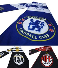 Wholesale Hot New Fashion Sports Soccer Club Scarf Badge AC Milan Scarves Neckerchief Football Fans Souvenir