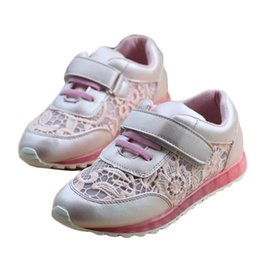 New style Kids Girls casual sneakers children breathable fashion sneaker Lace Mesh Girl Child shoes