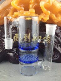 Wholesale Thick Glass ash catcher high quality mm many colors honeycomb and turbine perc glass ash catcher free shiping