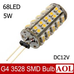 Wholesale Mini G4 LED lamp SMD Crystal Chandelier Spotlight Pendant DC12V refrigerator light Indicator Desk Corn Bulb Replace halogen lamp