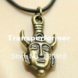 Wholesale Hot Moive Supernatural Inspired Dean s Amulet Dean Winchester Bronze Double Face Buddha Head Talisman Necklace RJ1268