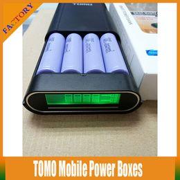 10PCS 18650 TOMO V8-4 Mobile Power Bank Boxes 4 Slot 18650 Battery Charger For 4x VTC3 VTC4 VTC5 AW 18650 Battery For Samsung S4 S5 Phones