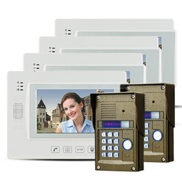 """Clés les mots de passe à vendre-7 """"Touch Key LCD Téléphone visuel de porte Intercom Vidéo Caméra IR Password Lock Night Vision 2V4"""