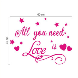 All you need is love wall Vinyl Sticker Decal home oN Wall Decal Sticker Vinyl Wall Room Decal