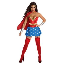 Wholesale Ulike fashion clothes NEW Halloween women dress Wonder Woman Cosplay dress adult sexy dress cartoon character costumes clothing