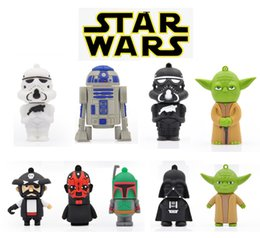Lecteur flash usb usb en Ligne-Hot Sell 1 Go / 2 Go / 4 Go / 8 Go / 16 Go / 32 Go USB Drive Meilleur stylo cadeau USB 2.0 Lecteur Flash Pen Drive STAR WAR Cartoon Shape USB Flash Drive