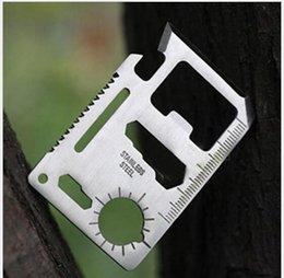 Crédit rapide en Ligne-Couteau de survie 11 en 1 Multi Tool Credit Card Outils Couteau en acier inoxydable Outils multifonctions Expédition rapide DHL