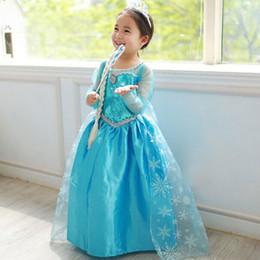 Nouvelles robes de filles de noël à vendre-New robes enfants Frozen filles Costumes Robe manches longues princesse Elsa Party Wear Vêtements Cosplay cadeaux Vêtements de Noël pour enfants