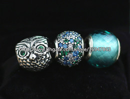 DIY Jewelry Sets 925 Sterling Silver Core Charm and Murano Glass Bead Set Fits European Pandora Jewelry Charm Bracelets & Necklaces-HJ010