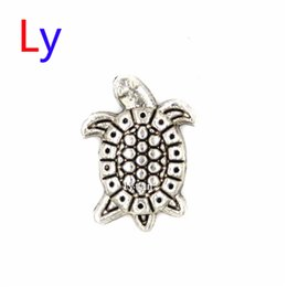Silver Sea Turtle Tortoise floating charms for glass floating charm locket pendant Wholesale 20pcs Free shipping MFC1031