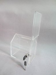 Wholesale Pack units Transparent Prexiglass Cute Dog House Acrylic Perspex Donation Boxes Donation Container Or Dog Rescue YDB008