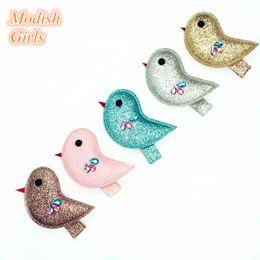 Wholesale Modish Girls Glitter Bird Barrett Bestseller Animals Design Hair Clips Lovely Crystal Animals Children Jewelry Kids Hairpins