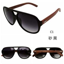 Wholesale 2016 Fashion Brand Designer Wood Sunglasses Pilot Vintage Bamboo Sun Glasses Men Coating Wooden Sunglass Gafas Oculos De Sol S226