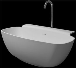 Wholesale 1580x820x600mm Ocean Shipping Solid Surface Stone Bathtub Freestanding Corian Soaking Tub Resin Artificail Stone Optional WD6576