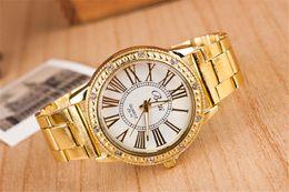 Roman numerals couples watch quartz Swiss alloy Steel belt watch fashion