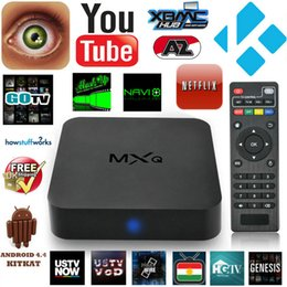 Wholesale Best Quality MXQ TV Box Android Quad Core Smart TV Box Amlogic S805 Quad Core G G HD Airplay Miracast