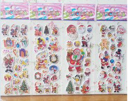 Wholesale Stars phone Santa Claus D PVC Puffy Anime Cartoon Stickers Kids Toys Cartoon Craft Classic Toys Children s toys Christmas
