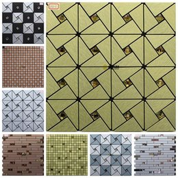 Wholesale Gold Cube metal aluminum composite panel mosaic tile brushed drill engineering Special Self adhesive gum Specials