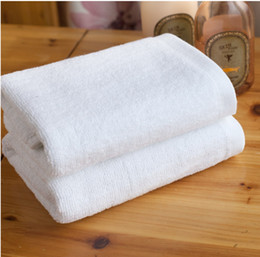 Towel Supplies Cotton Lots Disposable Absorbent Quick-Drying White Towel Bath Sheet