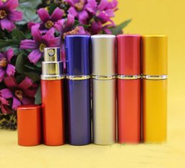 Wholesale smooth Aluminium perfume bottle ml Perfume Atomiser Travel bottles fragrance glass scent bottle