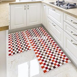 Wholesale 45 cm Long kitchen rugs and carpets plaid waterproof oriental carpets and rugs
