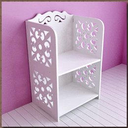 Wholesale Square Bathroom Shelf with Carve Patterns made of Wood plastic Composites