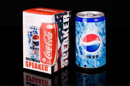 Wholesale Hot sale can Coke of Mini Speaker USB Portable Sound Box Multimedia Speaker With FM Radio for gift with retail box
