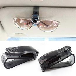 Wholesale New Arrivals Smart Car Vehicle Sun Visor Hook Hanger Sunglasses Holder Clip Plastic Black C358