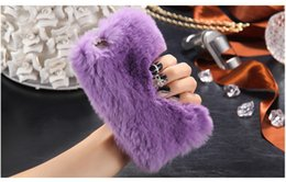 Wholesale Fashion Lady Phone Case Winter Warm Fluffy hair Fuzzy phone case With Bling Diamond For Iphone s plus Galaxy S5 S6 S6 edge S7 S7 Edge