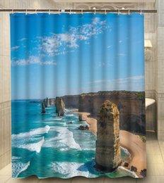 Wholesale Hot Sales Polyester Twelves apostles australia x180cm Moden Classical Custom Bath Shower Curtain bathroom Waterproof