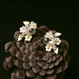 Wholesale Fashion Jewelry making supplies china Fashion Thailand Laminated Gold Jewelry Small Peach Blossom Earring Stud