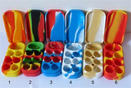 Wholesale Nonstick Wax Containers silicone box big wax can Silicon container Colorful Non stick wax jars dab storage jar oil vape pen holder