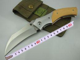 Strider mick-Goatsucker karambit knife Tactical folding knife D2 blade 62HRC yellow sandal handle outdoor camping claw knife