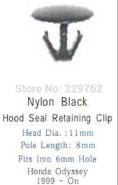 Wholesale 100 Hood Seal Retaining Clip Retainer Odyssey Accord Replace Acura S10 Fit mm Hole Head Dia mm M49030